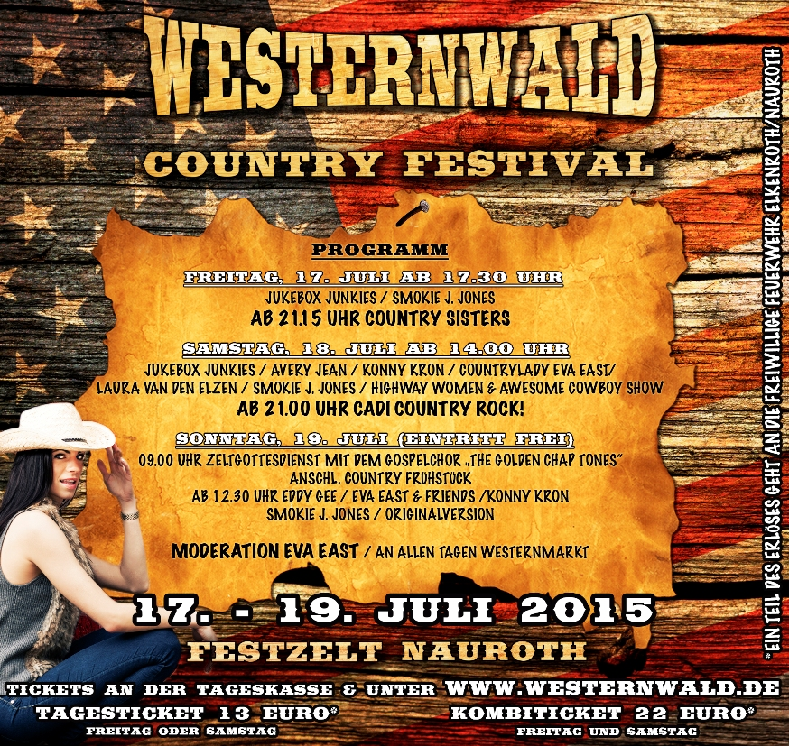 Flyer zum Country Festival Westernwald